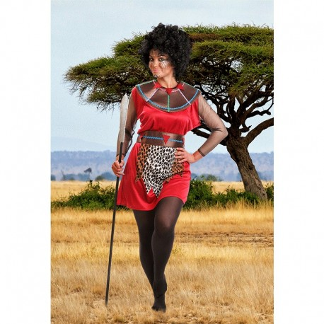 Disfraz de Mujer de Tribu Africana