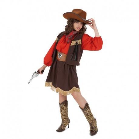Disfraz Infantil de Vaquera Roja